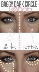 hide dark undereye circles apply the concealer in a pie piece under your eye instead this way you cover the darkness and create a little arrow directing