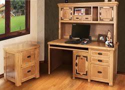 rustic lodge home office furniture set 3