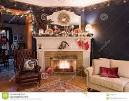 Xmas Living Room Victorian Christmas Living Room Stock Photo Image 64011621