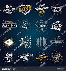 valentines day labels vine love stickers happy valentines day hand drawn lettering vector