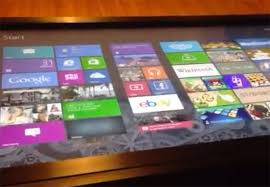 Micrsoft Table Windows 8 Running On Original Microsoft 40 Inch Surface Coffee Table