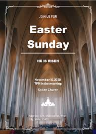 Free Easter Sunday Invitation Templates
