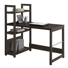 com corliving wfp 580 d folio bookshelf styled desk rich espresso kitchen dining