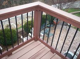 wood deck railing ideas. Contemporary Composite Deck Rails With Metal Balusters In St. Louis West County By Archadeck Wood Railing Ideas