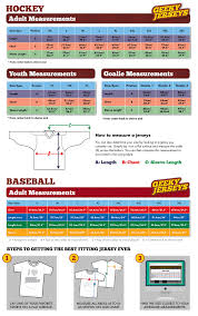 Nhl Jersey Size Chart Faqs Daves Geeky Hockey