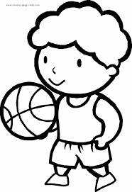 Basketball Color Page Coloring Pages For Kids Sports Coloring