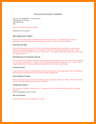 executive summary format for project report 8 project executive summary template format of notice