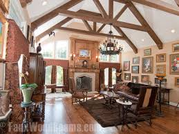 Vaulted ceiling wood beams Faux Wood Home Stratosphere 15 Faux Wood Ceiling Beam Ideas photos