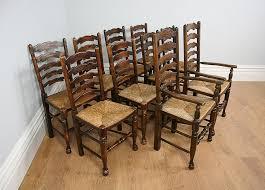 10 ash oak ladder back kitchen chairs c 1900 antiques atlas