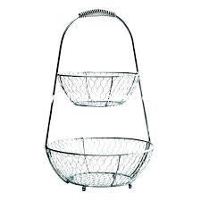 3 tier basket stand floor hanging metal baskets kitchen wire mesh tiered fl decorating ideas