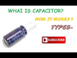 capacitors how it works types in tamil