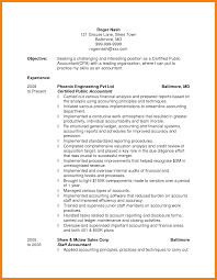 54 Entry Level Accounting Resume Sample Captivating
