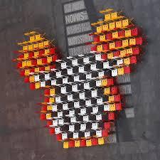 Fermob Bistro Stuhl Mickey Mouse Baumwollweiß