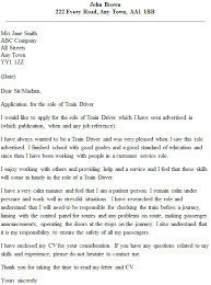 Cv For Driver Job Train Driver Cover Letter Example Icover Org Uk