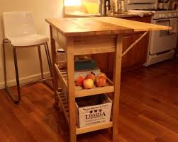 ... Stained Contemporary Kitchen Island With Drop Leaf Modern Plywood  Mahogany Minimalist High Quality Fruits Tomato Bamboo ...
