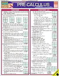 calculus review sheet pre calculus quick study academic inc barcharts 9781423202486