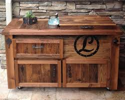 outdoor bar storage cabinet reclaimed cooler bar cabinet reclaimed rustic woodworx usa