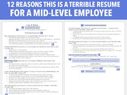 Terrible Resume For A Mid Level Employee Business Insider