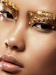 gold leaf embellished eyes