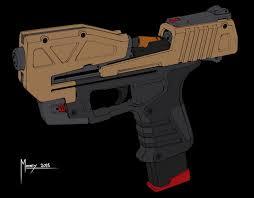 Design Pistol Artstation Pistol Design 01 Shaun Mooney Pistol Guns