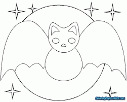 Cute Halloween Coloring Pages 20 Bat 9 Futuramame