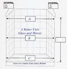 glass shower door measure sheet