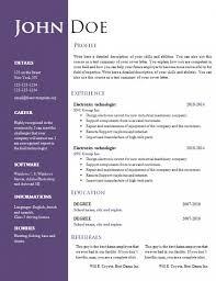 Resume Doc Samples Download New Curriculum Vitae Sample Template