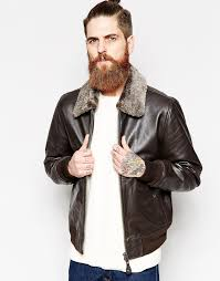 dark brown leather er jackets schott leather jacket with faux fur collar