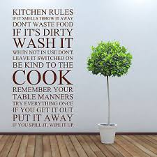 image is loading kitchen rules vinyl wall art sticker on wall art kitchen rules with kitchen rules vinyl wall art sticker ebay