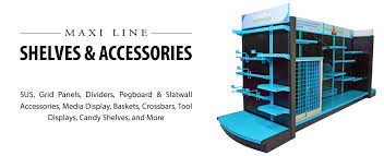 maxi line shelves and accessories