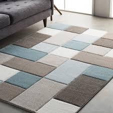 image of modern geometric rug size