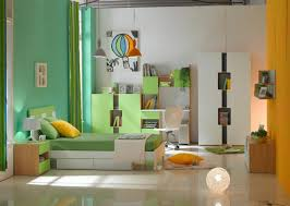 Kids Bed With Bookshelf Kids Room Orange Accent Kids Bedroom Furniture Set With