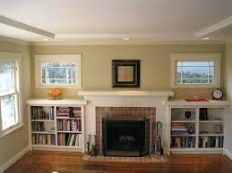 fireplace with built in bookshelves built in shelves around fireplace our updated craftsman style built fireplace