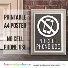 Printable No Cell Phone Use Sign Free Printables Online