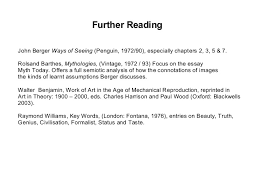 ways ofseeeing 14 further readingjohn berger ways of seeing