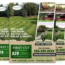 Lawn Care Brochure Lawn Care Flyer Design 4 The Lawn Market