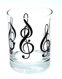 treblecleff treble clef glass tumbler music glassware gift musical gifts online