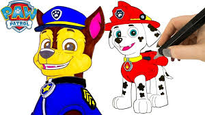 Paw Patrol Coloring Pages Marshall And Chase Coloring Book Flickr