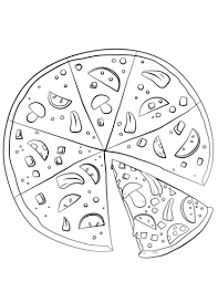 Small Picture Sliced Pizza coloring page Free Printable Coloring Pages