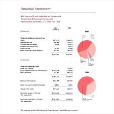 financial report template word event report templates 9 free word format download financial