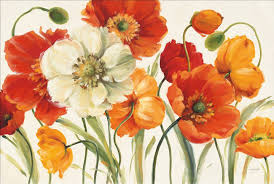 modern art oil painting flower poppies melody by lisa audit painting canvas high quality hand painted in painting calligraphy from home garden on
