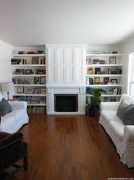 built ins next to fireplace beautiful floor to ceiling built in floating shelves they are finally