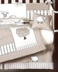 fabulous lamb nursery bedding gender neutral ivory lamb sheep farm baby boy girl crib bedding set collection lamb themed nursery decor
