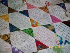 Blocks and more blocks. | Signature quilts, Family reunions and ... & looking for signature quilt ideas Adamdwight.com