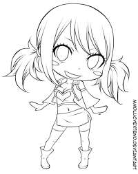 Small Picture Fairy Tail Coloring Pages Chibi LineArt Fairy Tail Pinterest