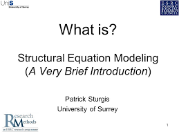 1 1 what is structural equation modeling a