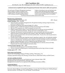 Property Management Resume Objective Commercial Manager Cover Letter