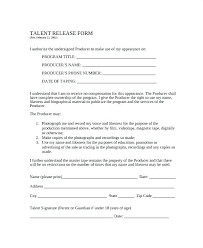 Release Form Template Model Release Form Template Photo