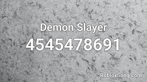 demon slayer roblox id roblox codes