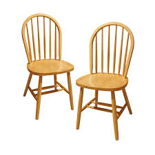 winsome wood windsor chair natural set of 2 amazon ca home kitchen